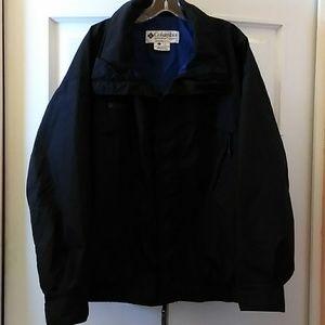 Columbia Windbreaker Jacket BLK/Blue Sz L